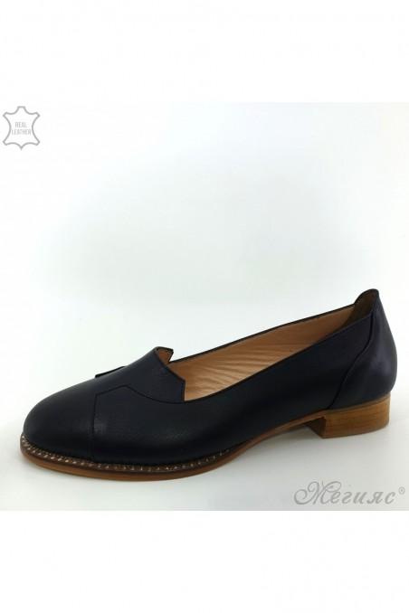 Дамски обувки XXL черни от естествена кожа 210/1