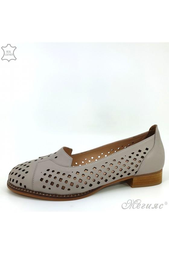 Дамски обувки XXL бежови от естествена кожа 210/19