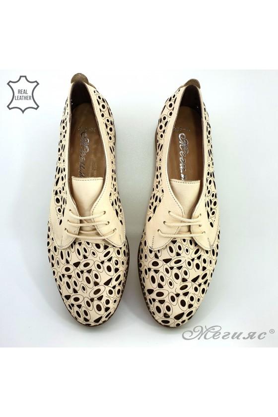 Дамски обувки  от естествена кожа бежови 205/10