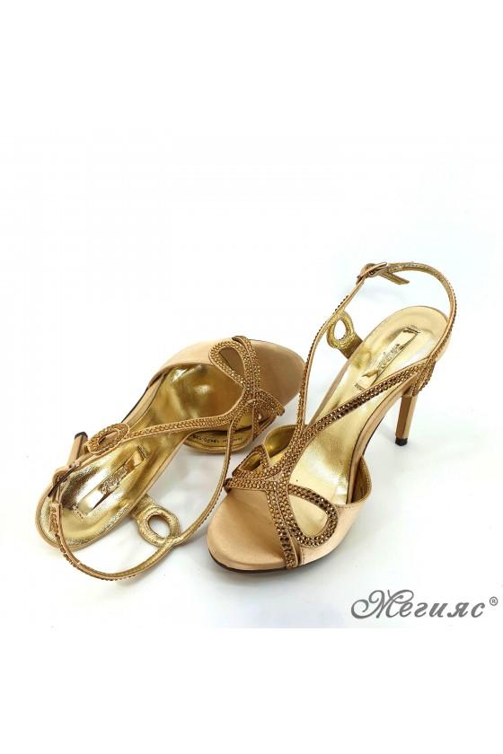 Дамски сандали  Jeniffer 18s20-128 златисти елегантни на висок ток
