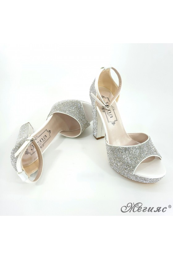 171 Lady sandals silver high heels
