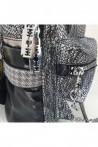 Дамска раница черно и сиво от еко кожа 16350