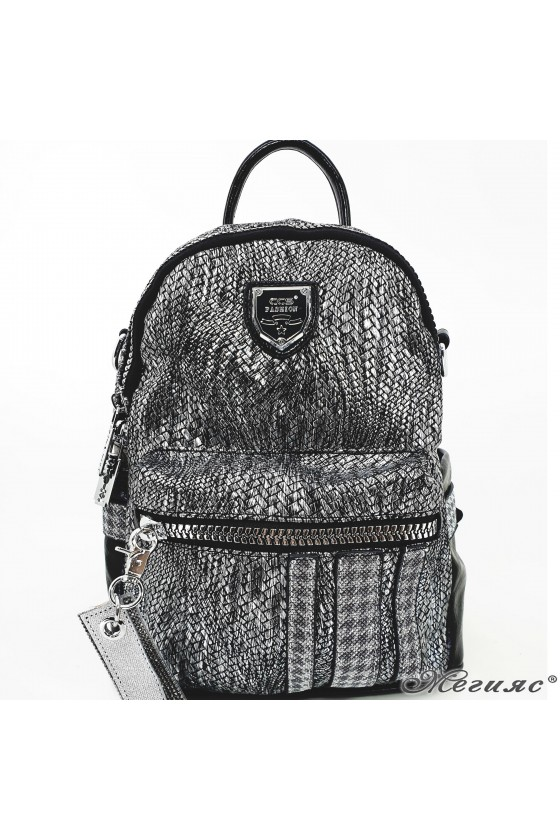 Lady bag black pu 16350