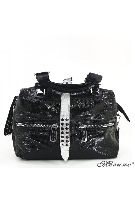 Дамска чанта черна от еко кожа 16460