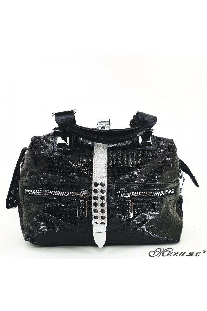 16460 Дамска чанта черни от еко кожа