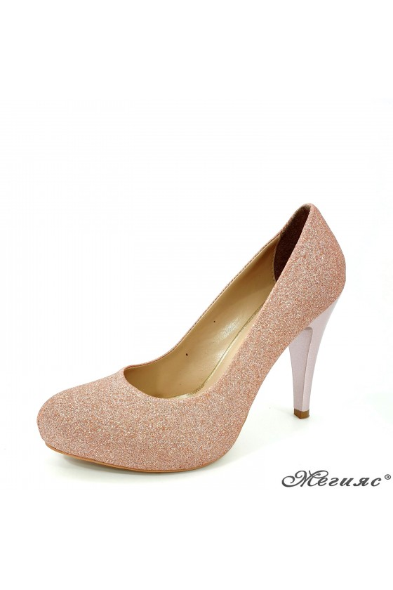 Lady shoes pudra high heels 218-1