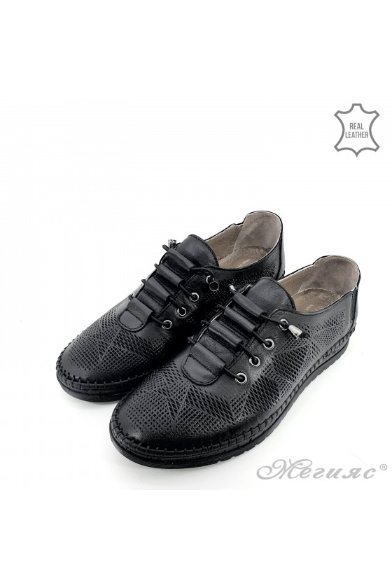Lady shoes black leather 170