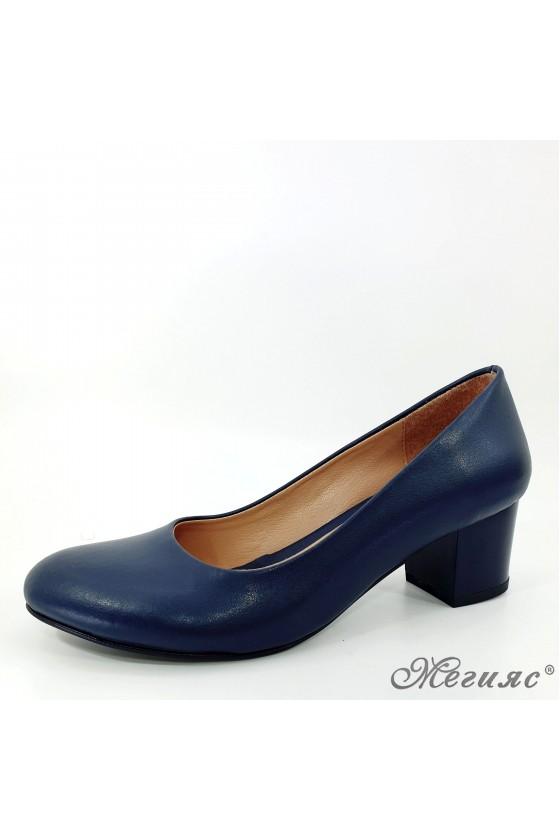 Дамски обувки на ток сини 903