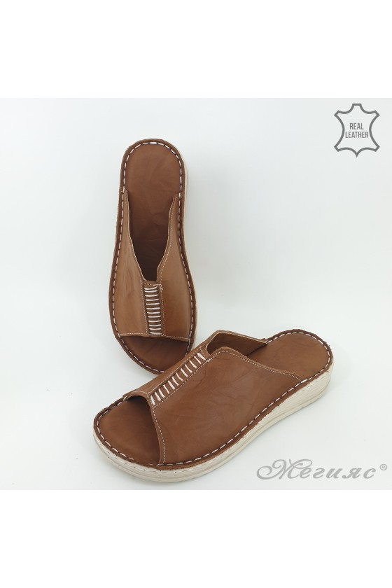 Lady slippers brown 04