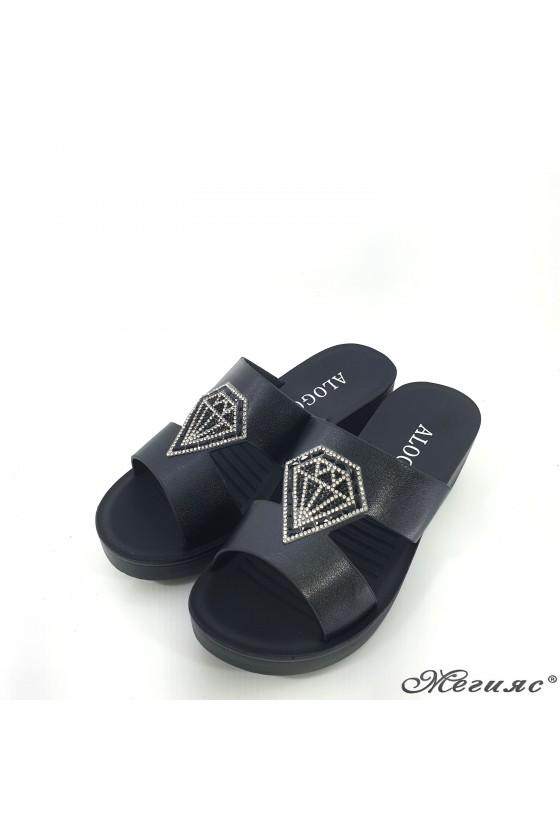 Lady slippers black 83-1