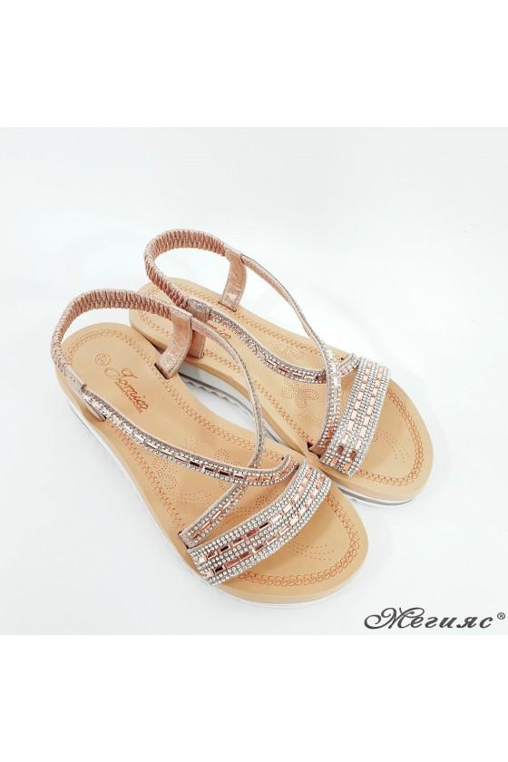 Lady sandals rose gold 2089