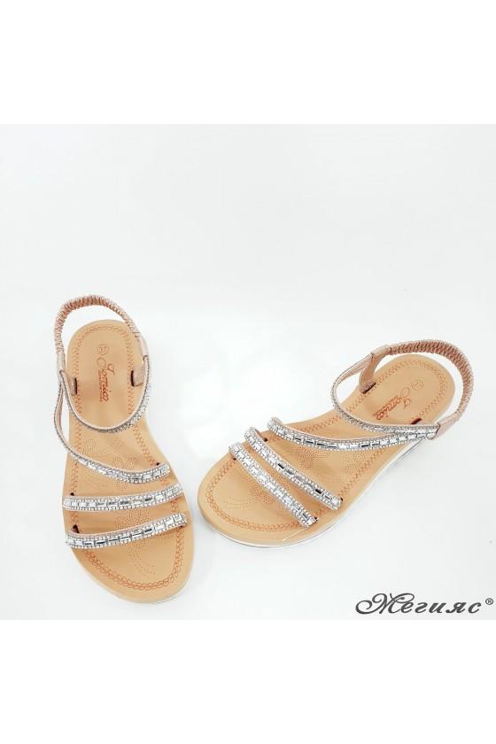 Lady sandals rose gold 2082