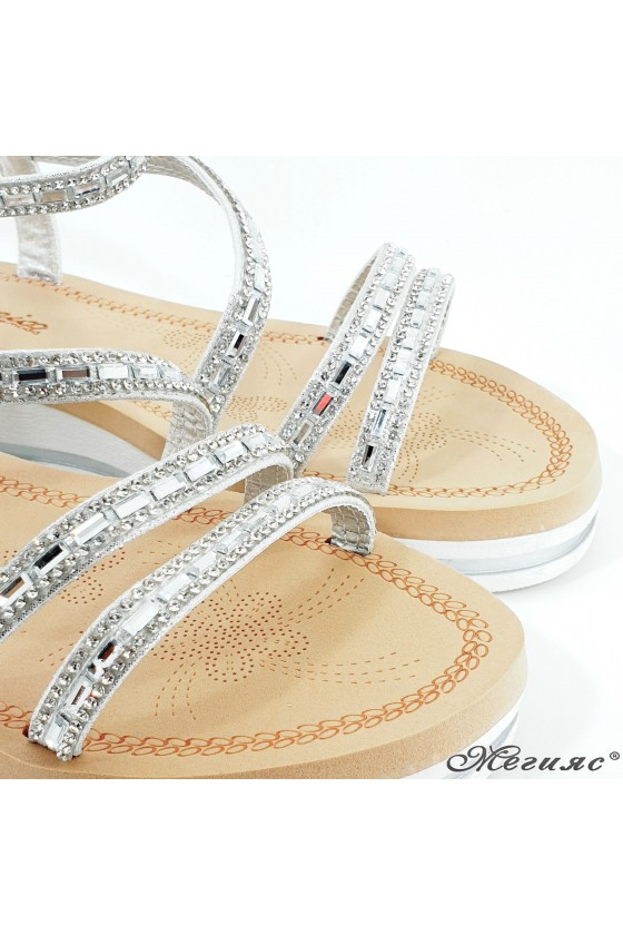 Lady sandals silver 2082