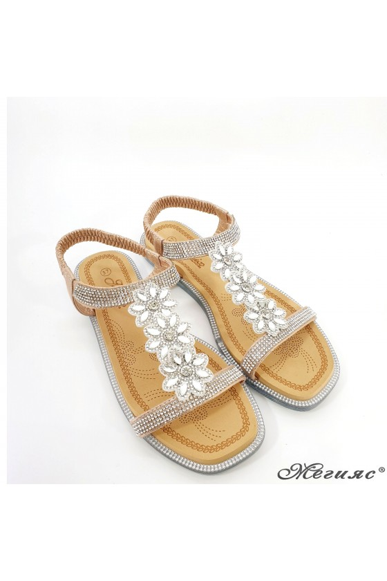 Lady sandals rose gold 2650