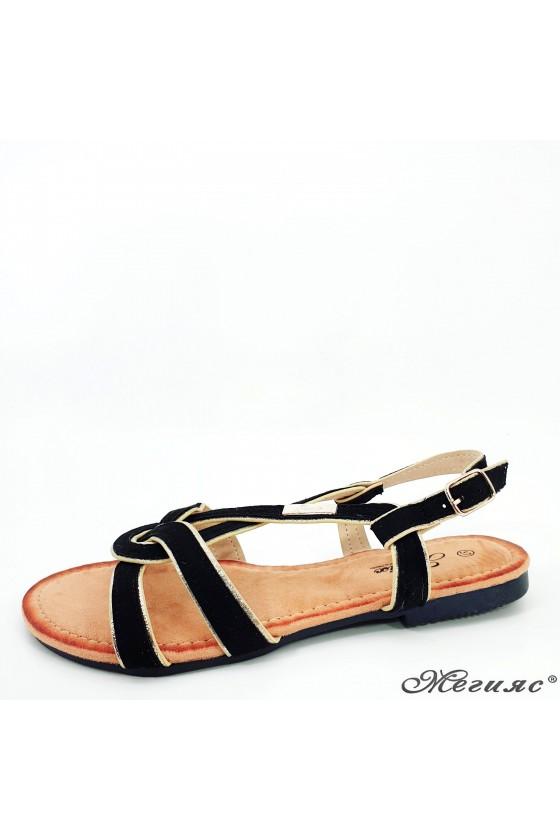Lady sandals black 2150