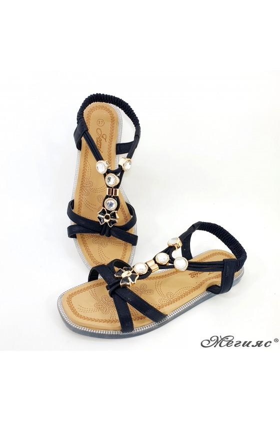 Lady sandals black 2086