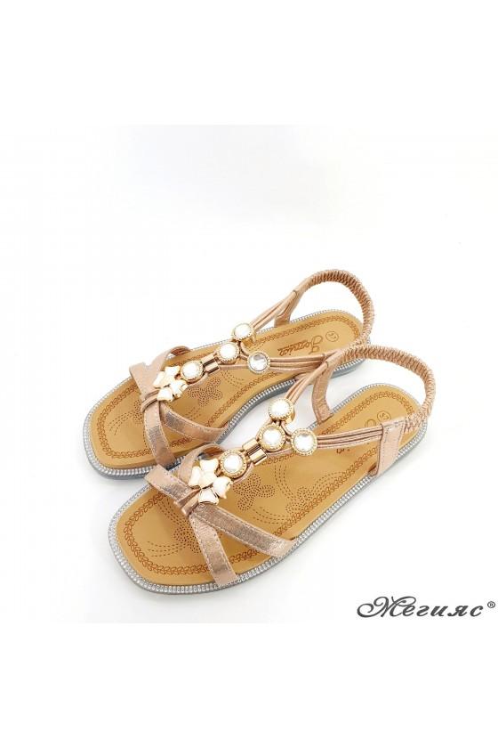 Дамски сандали бакър 2086