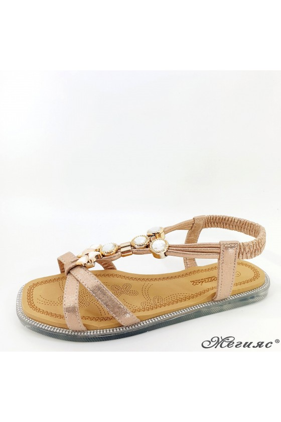 Lady sandals rose gold 2086