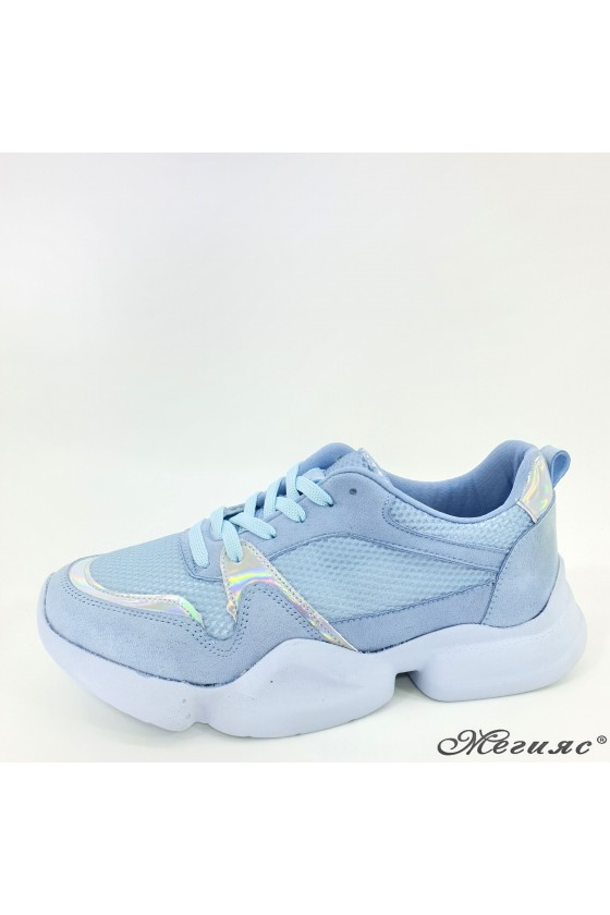 Дамски обувки сини 5053