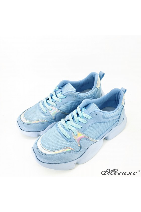 Lady shoes blue 5053