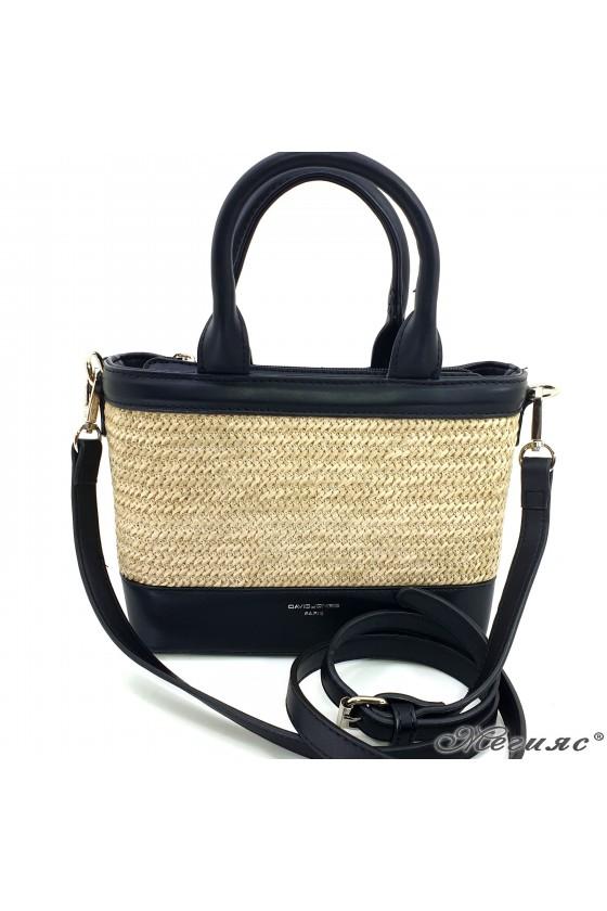 Дамска чанта еко кожа черна 5726