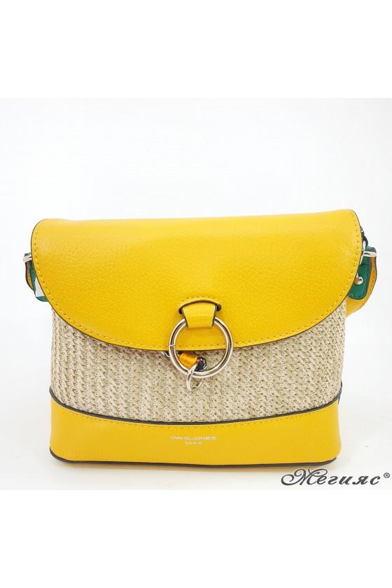 Дамска чанта еко кожа жълта 6280