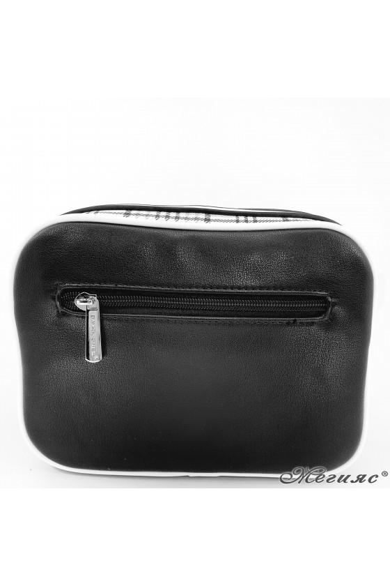 Малка дамска чанта черна 6282