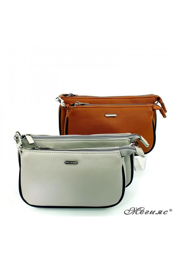 Дамска чанта таба/сива 6023