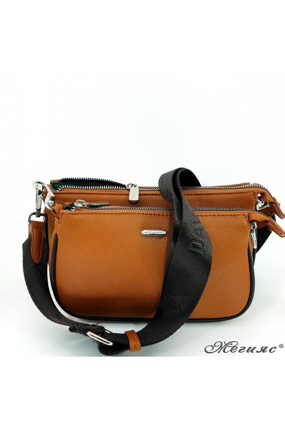 Малка дамска чанта таба/сива 6023