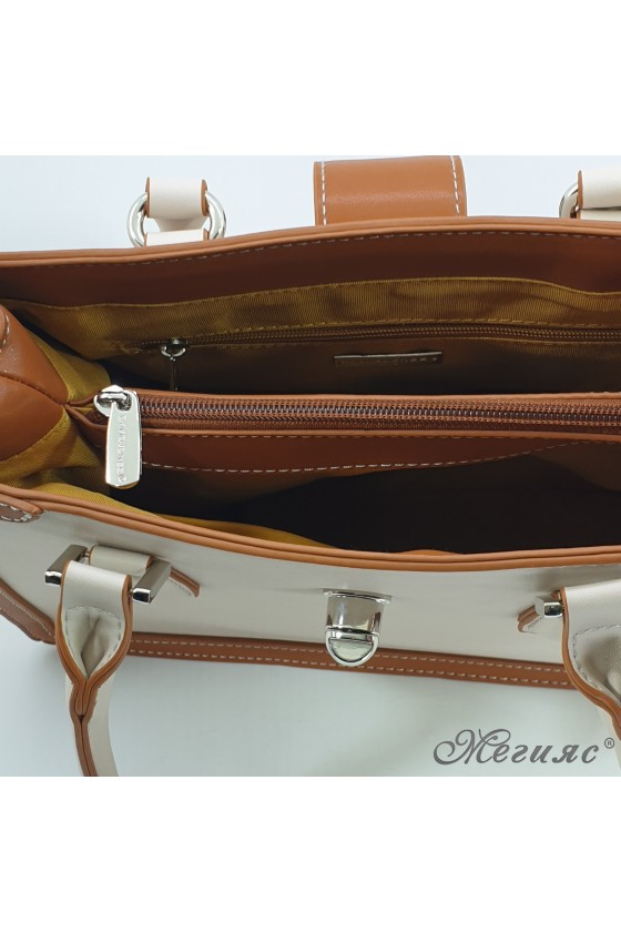 Lady bag beige and brown 6236