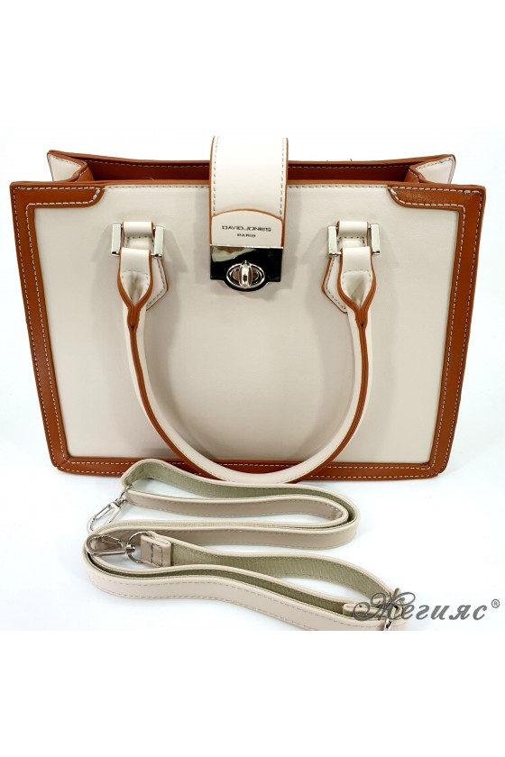 Дамска чанта бежово с кафяво 6236