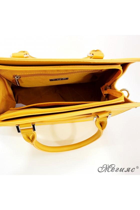 Дамска чанта жълта 6247
