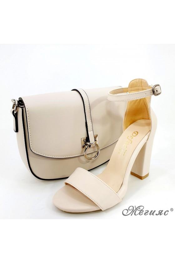 Комплект дамски сандали 110 с чанта 6035