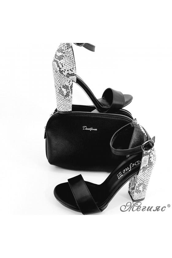 Комплект дамски сандали 110 с чанта 6508