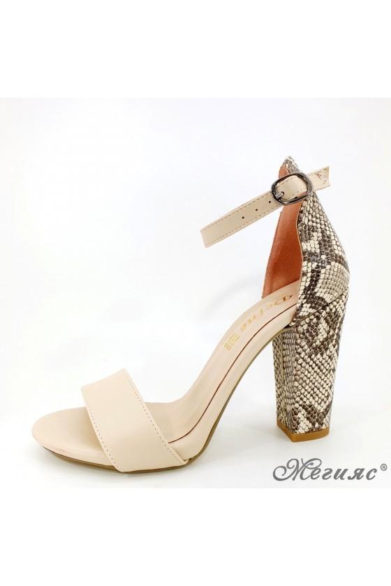 Дамски сандали бежови със змия 110