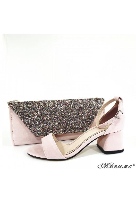 Комплект дамски сандали 0257 с чанта 1194