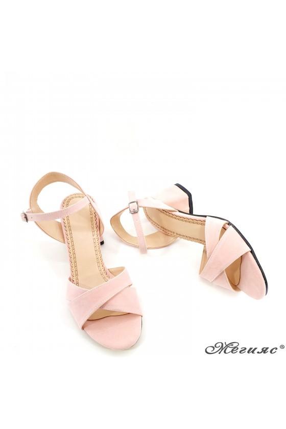 Дамски сандали пудра 0258
