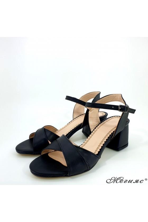 Дамски сандали черни еко кожа  0258