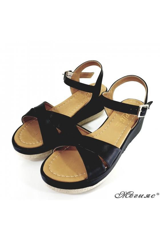 Дамски сандали черни 805