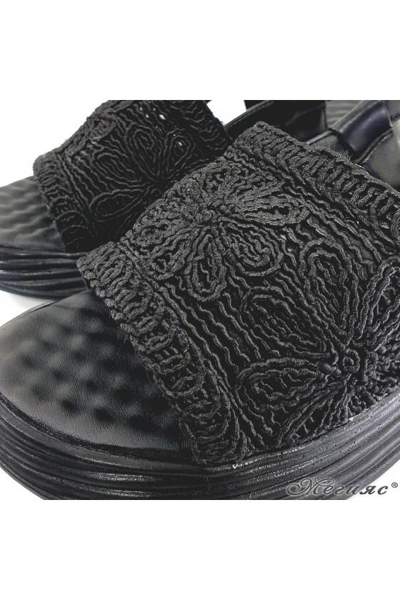 Дамски сандали черни 12135