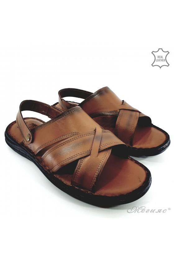 Мъжки сандали от естествена кожа таба 06