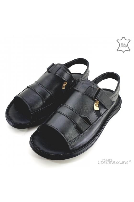 Мъжки сандали XXL черни 017