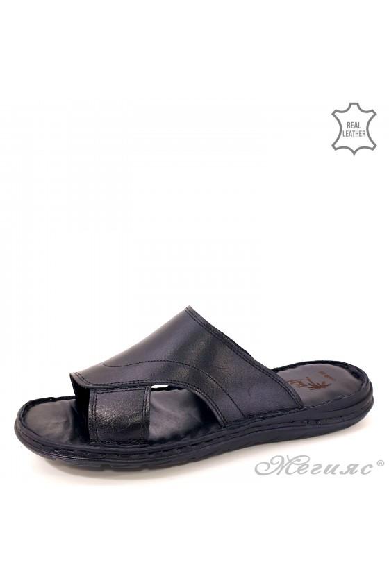 Мъжки чехъл от естествена кожа черни 008