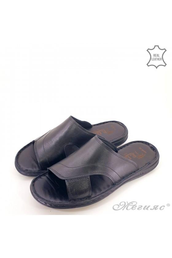 Мъжки чехъл  XXL от естествена кожа черни 008