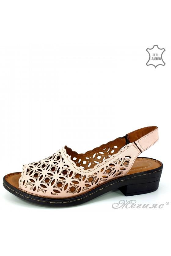 Дамски сандали естествена кожа сиви 4024-09