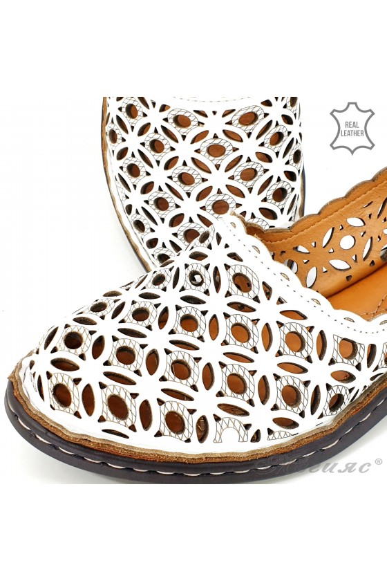 Lady sandals white leather 4021-05