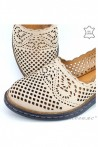 Lady sandals beige leather 4019-03