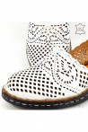 Lady sandals white leather 4019-05
