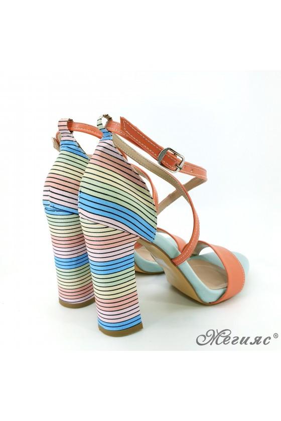 Lady sandals orange 107