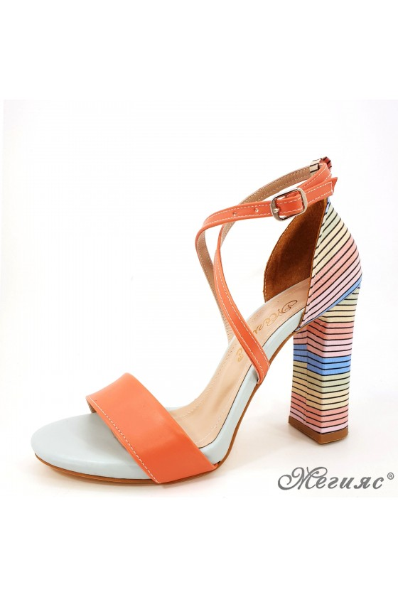 Дамски сандали елегантни оранжеви 107